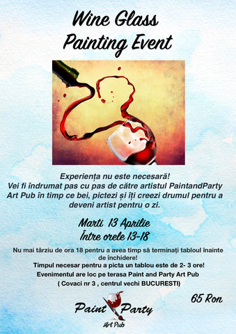 Wine Glass Painting Event 13 Aprilie