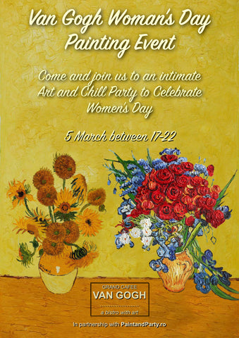 Van Gogh Woman's Day Painting Event