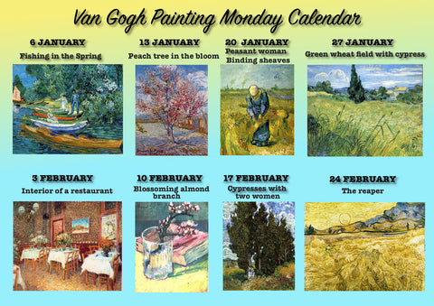 Paint Your Own Van Gogh / Van Gogh Painting Monday /Ianuarie-Februarie