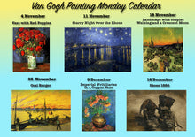 Paint Your Own Van Gogh / Van Gogh Painting Monday /Noiembrie-Decembrie