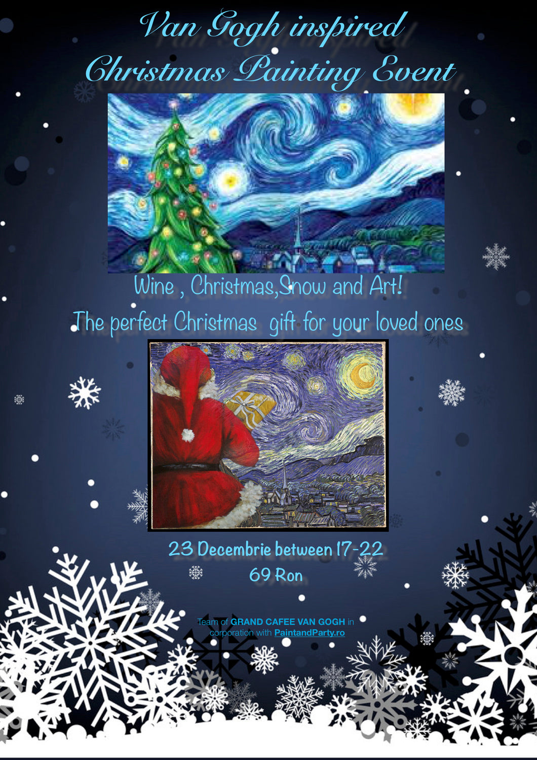 Van Gogh inspired Christmas Painting Event