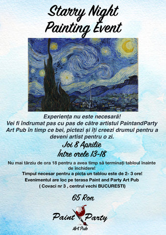 Starry Night Painting Event 8 Aprilie