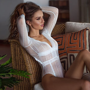 Long Sleeves Lace Bodysuit