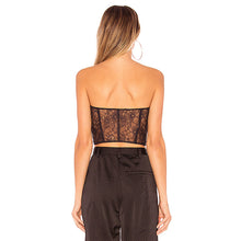 Strapless Lace Up Crop Top