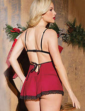 Sheer V-Neck Babydoll Nightwear