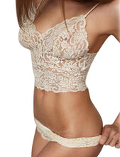 Hollow Lace See-through Push Up Bra Set
