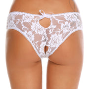 Hollow Lace Open Crotch Briefs Panties