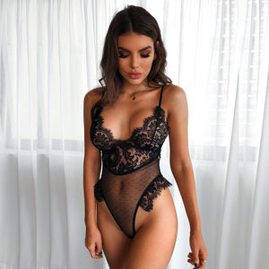 Black Lace Sheer Bodysuit