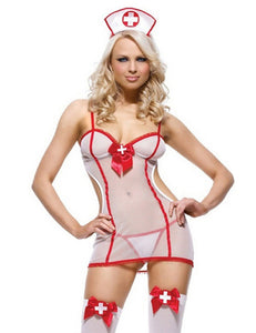 Nurse Mesh Sheer Lingerie Set