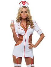 Nurse Lingerie Dress With Garter Belt