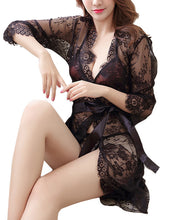 Lace Robe Floral Nightwear