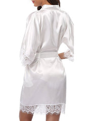 Satin Ice Silk Kimono Robe Nightgown