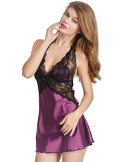 Lace Babydoll Dress with G-string Lingerie Set