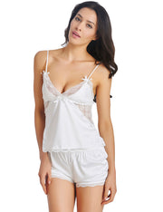 Sleeveless V-Neck Lace Pajamas Sets Sleepwear