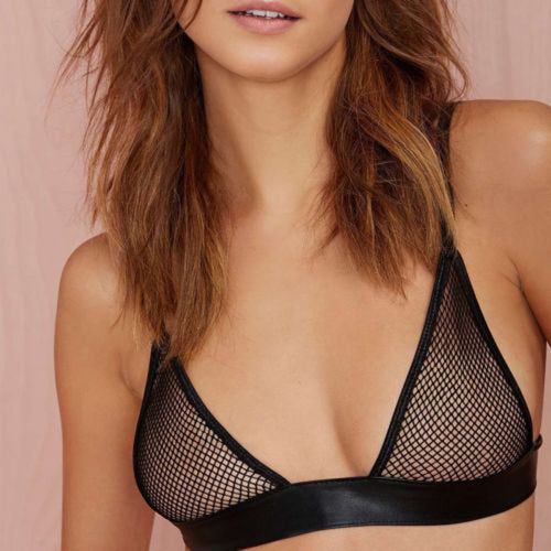 Black Mesh Sheer Bra