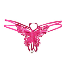 Embroidery Butterfly Pearl Thong
