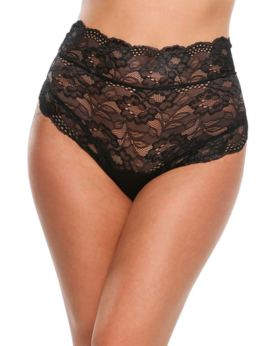 Hollow Floral Lace Briefs Panty