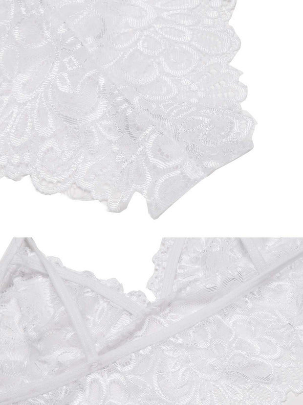 Sexy Mesh Transparent Lingerie Set