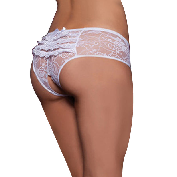 Lace Open Crotch Underwear