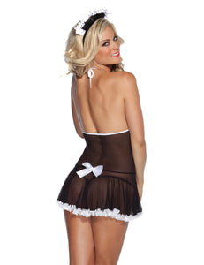 Black Maid Costume With G-String