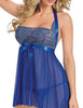 Halter Babydoll See-through Dress with G-String