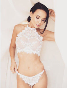Lace See Through Lingerie with G-String