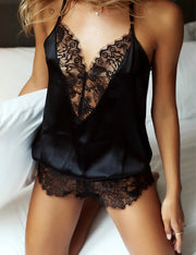 Lace Sheer Halter Bodysuit