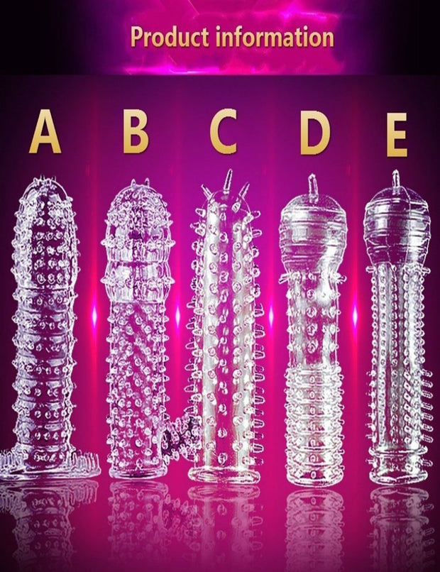 Spike Dotted Ribbed Delay Aid Thickening Thorn Reuseable Condoms
