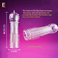 Reusable Sheath Ribbed Stimulate Ejaculation Sex Toys
