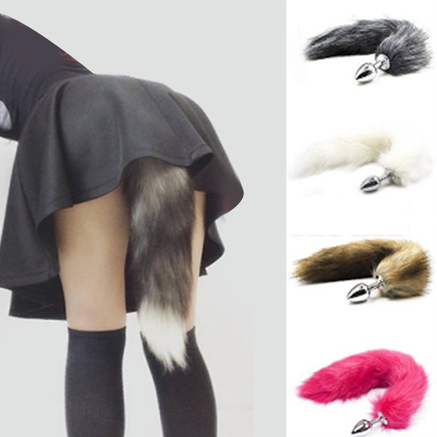 Faux Fox Tail Toys Butt Backyard Stopper Anal Plug