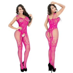 Mesh Lacy Sheer Crotchless Bodystocking