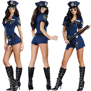 Police Uniform Costume Bodysuit Nightwear