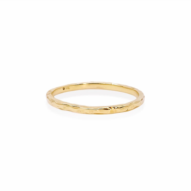 Hammered Ring Gold / in stock
