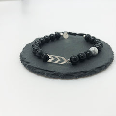 Three Arrows Bracelet - Classic Black