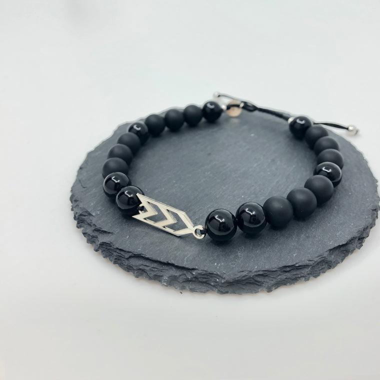 Three Arrows Bracelet - Black Shades