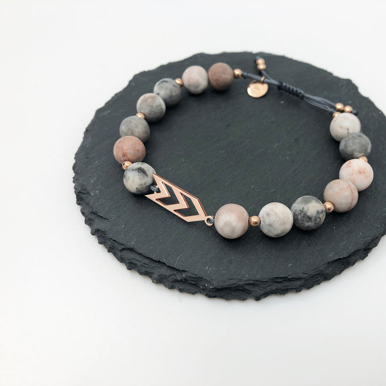 Three Arrows Bracelet - SOFT PINK