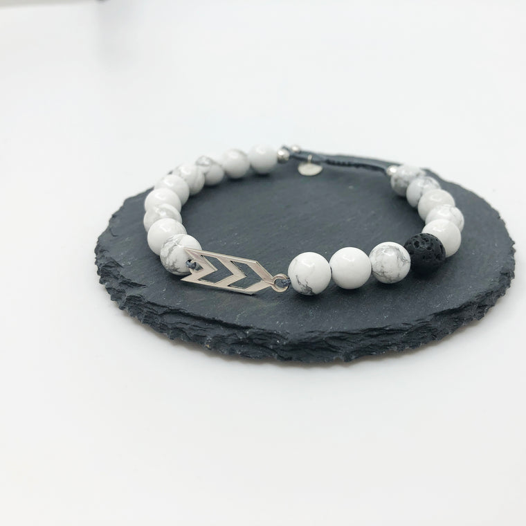 Three Arrows Bracelet - Pure White