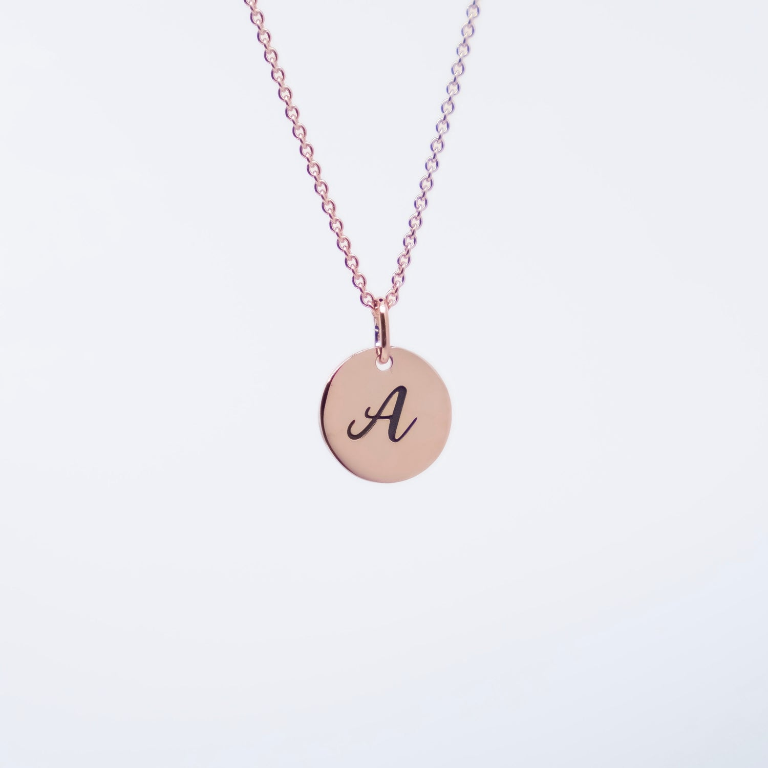 Initial Coin necklace 10k Gold