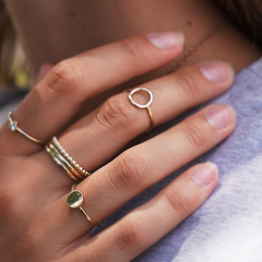 Duo circle/dot Rings