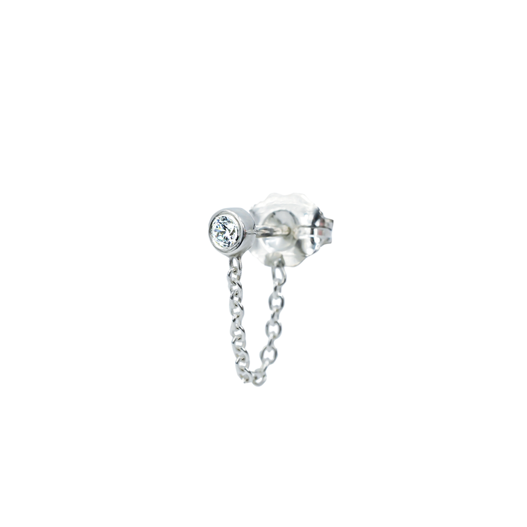 Zircon-chain Earring