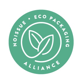 No Issue Eco Packaging Alliance Logo on Baa Baby