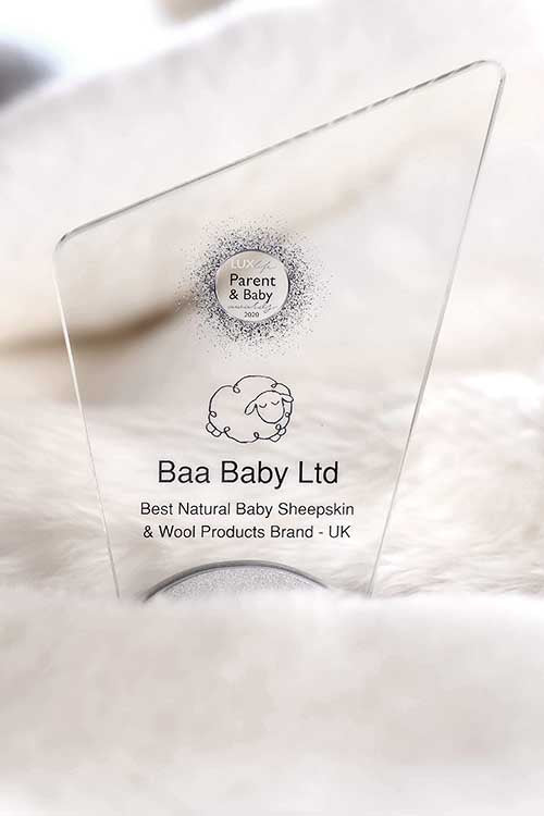Best Natural Baby Sheepskin & Wool Products Brand - UK Award LUX Life Award 2020