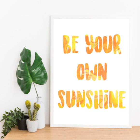 Sunshine Water Colour Print - Triftware