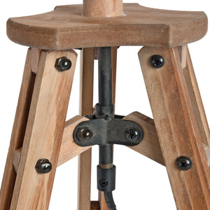 Wooden Tripod Table Lamp - Triftware