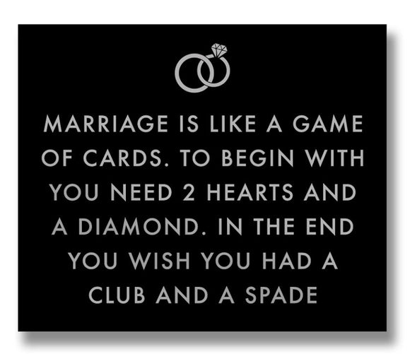 Marriage is Like Plaque - Triftware