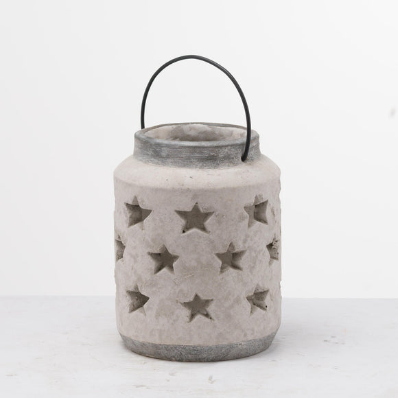Bloomville Large Stone Star Lantern - Triftware