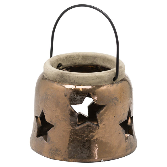 Evi Antique Bronze Small Star Lantern - Triftware