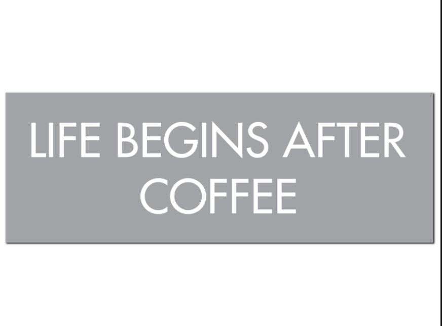 Life Begins After Coffee Plaque - Triftware