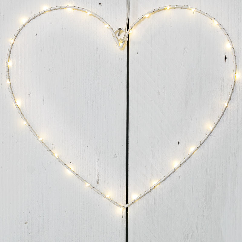 Wire LED Heart 40cm - Triftware