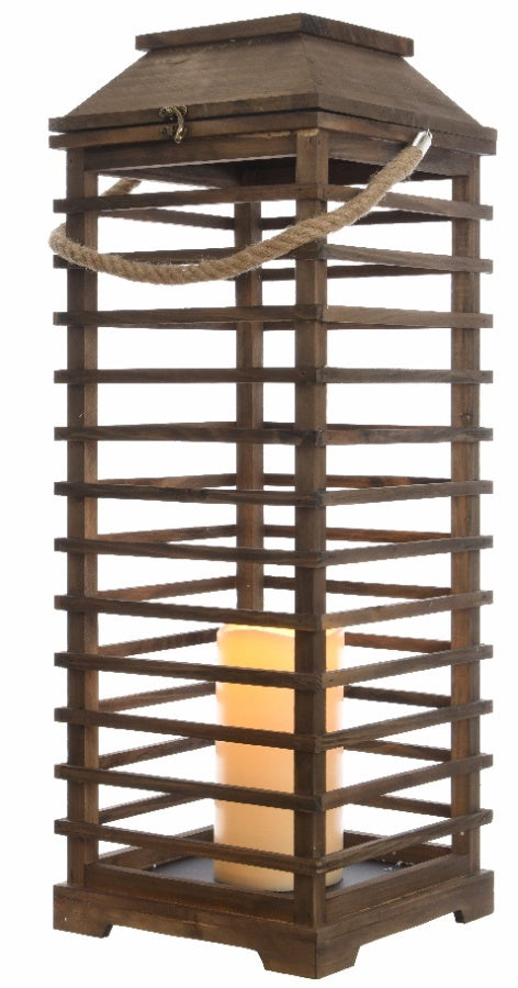 Extra Large Natural Wooden Lantern - Triftware